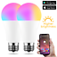 LED-WiFi-Smart-Gluehbirne-Dimmbar-RGBW-Lampe-e27-b22-fuer-Alexa-Google-Home Indexbild 1