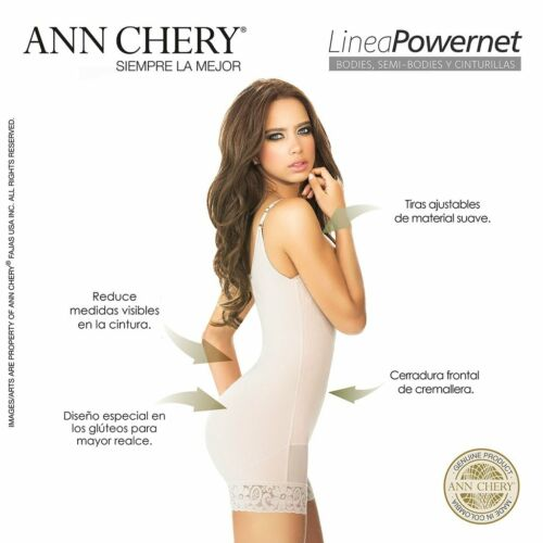 Ann Chery 1041 Titi Body Short women/'s Powernet Fajas Moldeadora Shapewear Beige