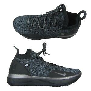 Nike-Zoom-KD11-Mens-Size-10-5-Basketball-Shoes-Black-Gray-Twilight-AO2604-005