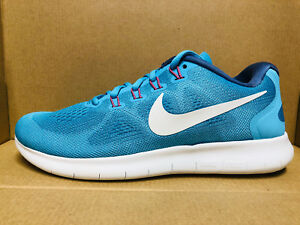 NIKE-WOMEN-039-S-FREE-RN-2017-SHOES-chlorine-blue-white-880840-400