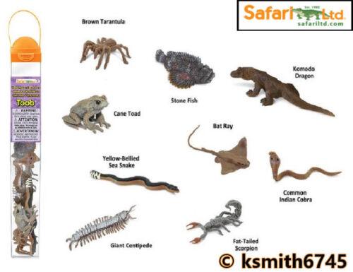 Safari venimeux créatures TOOB Jouet Wild Zoo Mer Animal Tube Paquet De 9 nouveaux