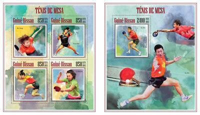Erfinderisch Tischtennis Sport Tischtennis China Guinea Bissau Mnh Stempelset