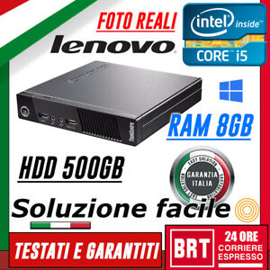 PC-DESKTOP-COMPUTER-FISSO-LENOVO-M92P-USFF-CPU-I5-3gen-RAM-8GB-500GB-HDD-OTTIMO