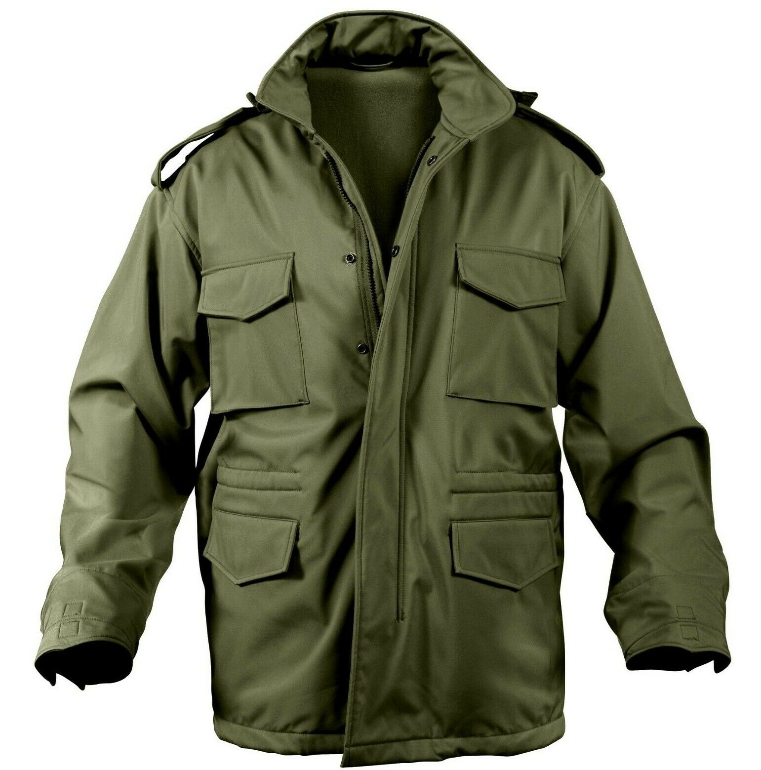Military Style Soft Shell Tactical M-65 Field jacke Olive Drab Coat Rothco 5744