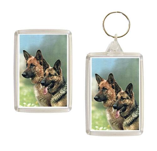 German Shepherd Dog Heads Keyring or Fridge Magnet Novelty Gifts