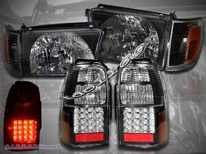 Image Is Loading 1996 1998 Toyota 4runner Black Style Headlights Corner