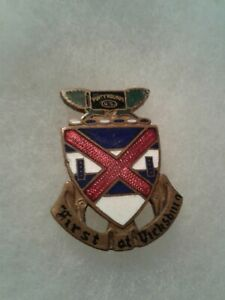 Authentic-WWII-US-Army-13th-Infantry-Regiment-DI-DUI-Unit-Crest-Insignia-MEYER