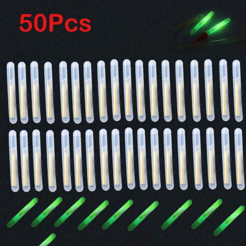 50PCS//10Bags  Green Night Fishing Light LED Fluorescent Dark Glow Sticks