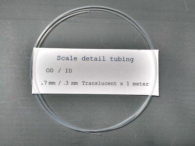 0.7 Mm Translucent Tubing For Scale Model Detailing..tamiya..revell..protar Etc.