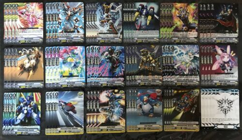 4x EA R AND C CARDFIGHT VANGUARD V-EB02 DIMENSIONAL POLICE PLAYSET 4 MARKERS