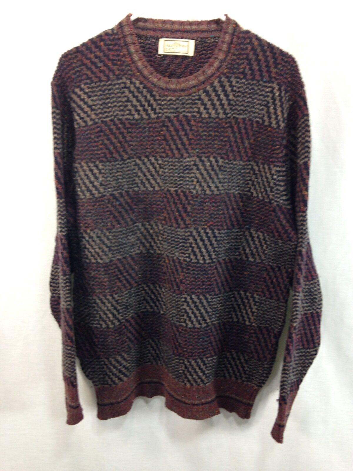VTG Alan Paine Knit Sweater  Herren 44 Large 100% Shetland Wool Made in Engand