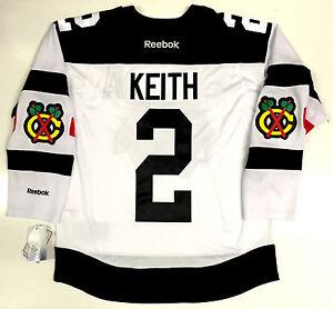 size 40 467d1 5b015 Details about DUNCAN KEITH CHICAGO BLACKHAWKS 2016 STADIUM SERIES REEBOK  NHL PREMIER JERSEY