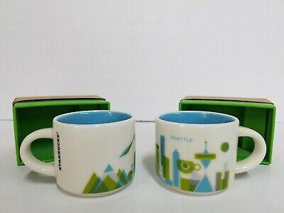 Lot Of 2 Starbucks Mini Coffee Mug You Are Here Collection Seattle Ornament Q Ebay