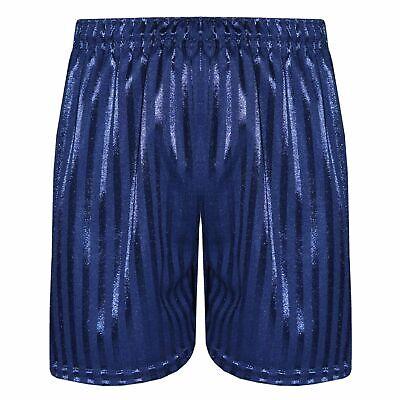 Kids Girls Shadow Stripe PE Shorts Sports Football Gym School Short 2-13 Years