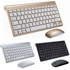 Détails sur Mince clavier sans fil mini souris optique Multimédia pr ordinateur Mac Apple PC