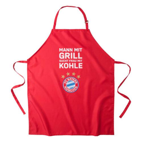 Grillschürze rot Mann mit Grill FC Bayern München Grillfest 24374 FCB Fanartikel