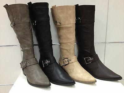 Bottes Bottines Femmes Chaussures Neuf Noir Marron Beige Gris 55-7a