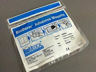 10 Stück TENS Ersatz- Klebepads für Karbongummi-Elektroden L00036 BioDerm Pads
