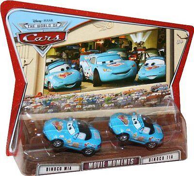 DINOCO MIA /& TIA woc MOVIE MOMENTS disney pixar cars nisb 2 pack