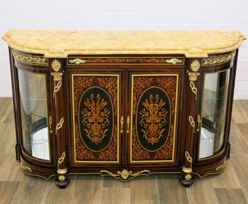French Louis-XV cabinet with Marble-Salon istituzione Grande credenza 2-türig