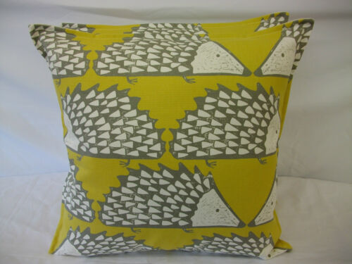 LOVELY CUSHION COVERS IN HARLEQUIN SCION SPIKE THE HEDGEHOG HONEY