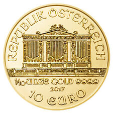 2017 - 1/10oz Gold Austrian Philharmonic .9999 Fine BU
