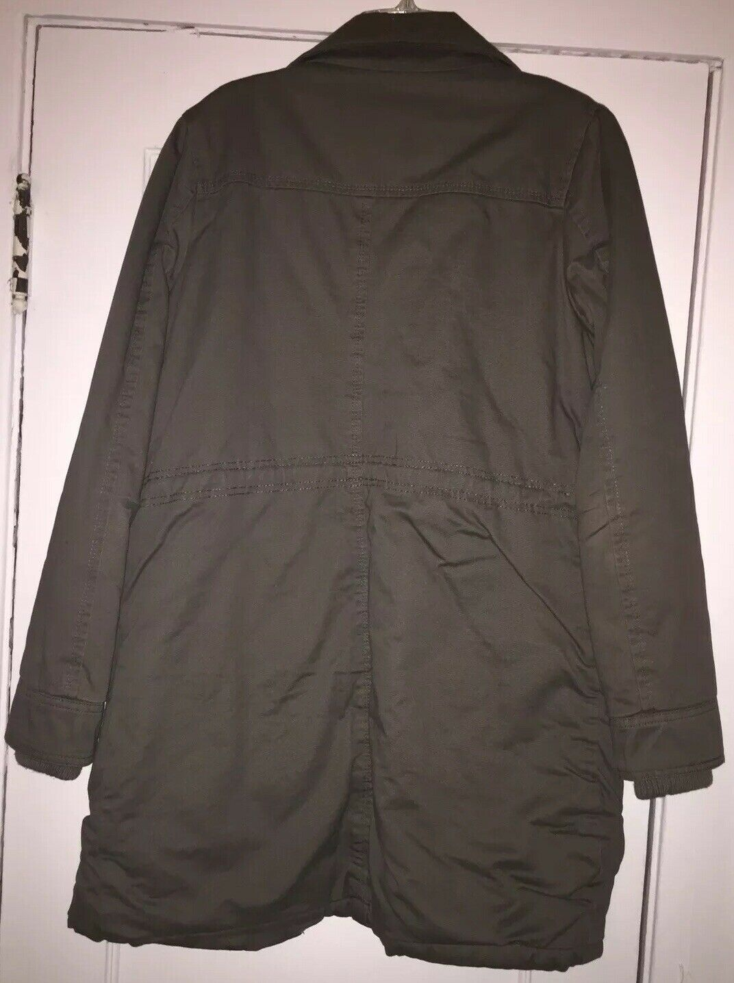 Me Jane Olive Green Military Trench Coat/Jacket S… - image 2