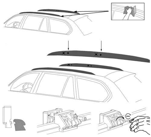 Alu relingträger aurilis Trek CC para Opel Astra J SW combi 5 puertas a partir de 10//