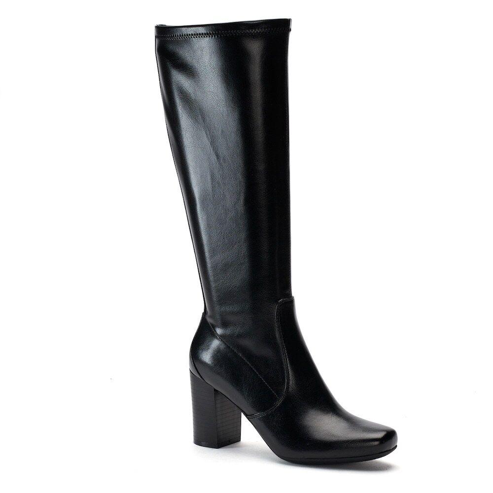 damen damen damen CROFT & BARROW Wide Calf Tall Dress Stiefel Knee High schwarz sz 9.5 Med 9543cd