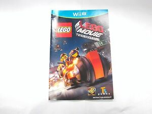 the lego movie for wii u instruction manual booklet only wii u rh ebay com Wii Online Manual Wii Operations Manual Error