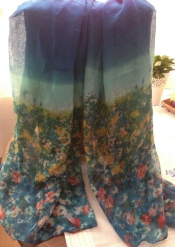 90 cm Ladies Abstract Summer Print Fashion Scarf Sarong  Size 180