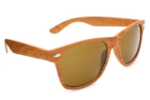 80/'s Wood Print Square Shape Fashion Sunglasses Men Women Retro Classic Look