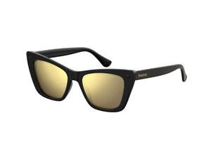 Audacieux Occhiali Da Sole Havaianas Autentici Canoa Nero Oro Specchiato Qfu/sq Une Large SéLection De Couleurs Et De Dessins