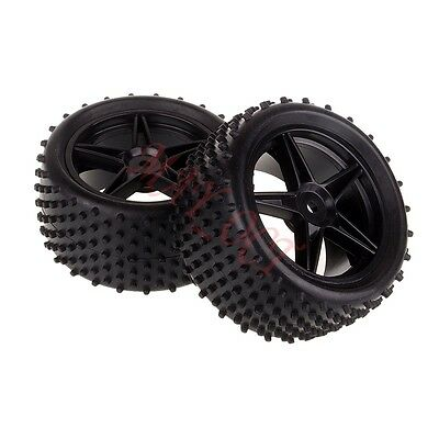 REAR Wheel Complete Tyre Tires 06026 For HSP 1/10 94107 Off Road Buggy RC Car