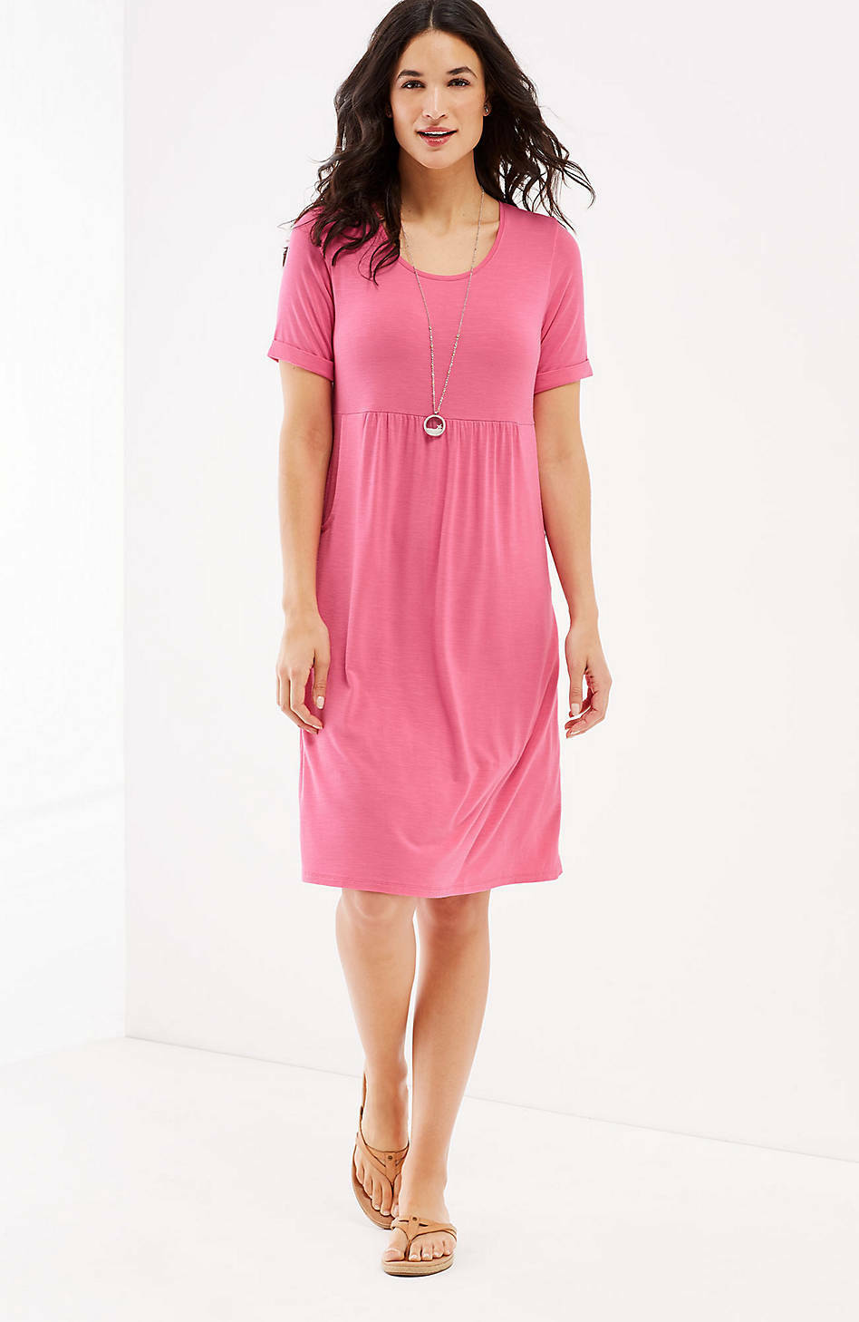 J. Jill - 2X(Plus) - Soft and Comfortable Sweet Pea Scoop-Neck Knit Dress - NWT