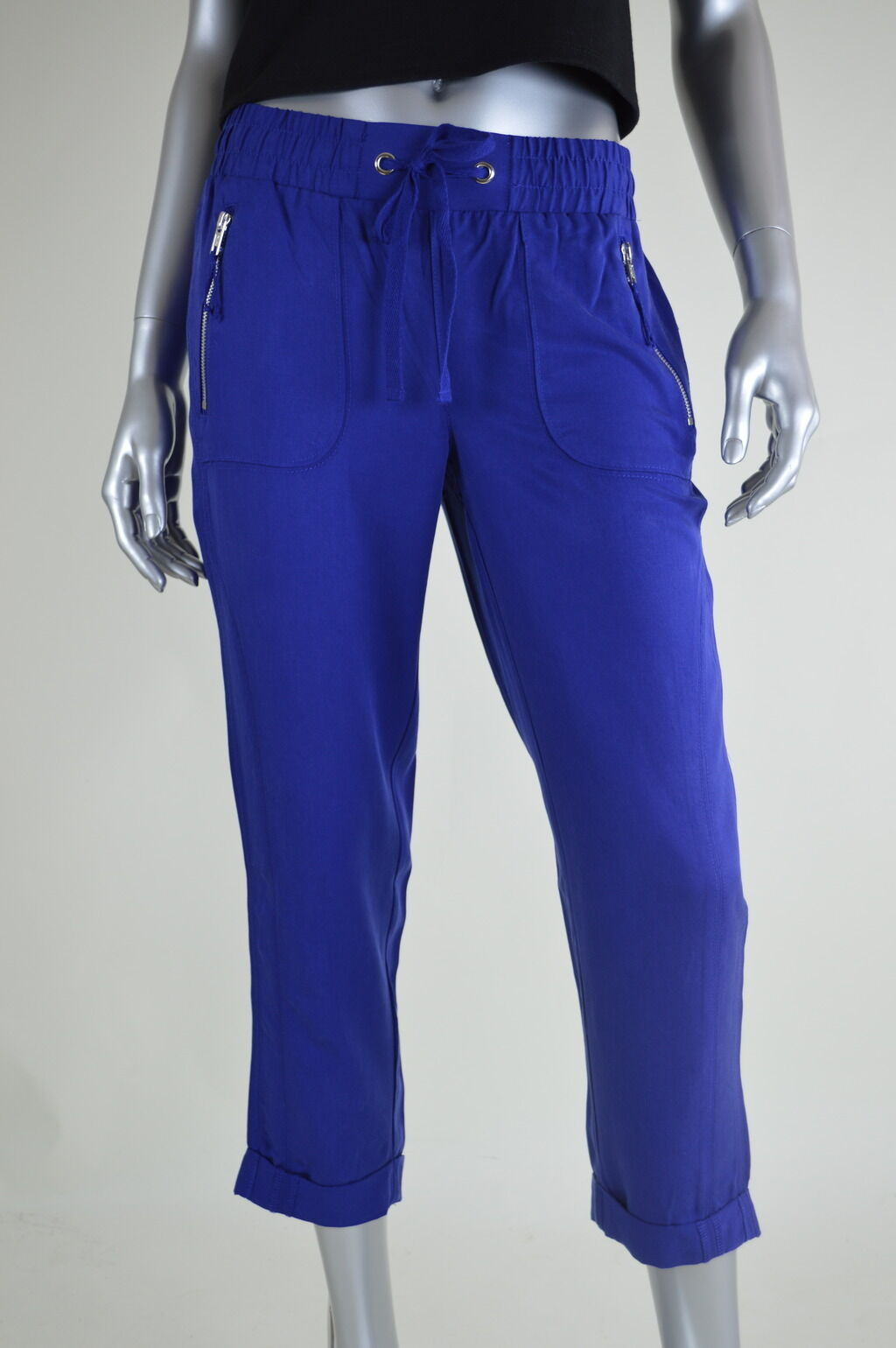 INC New Womens bluee Relaxed Fit Cropped Casual Pants MSRP  Size 4