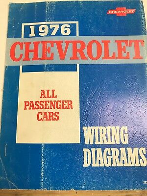 1976 Service Manual Chevrolet Wiring Diagrams All ...