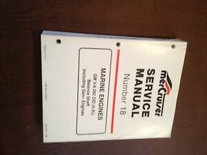 MERCRUISER MERCURY MARINE ENGINE 262 4.3L NUMBER 18 BOOK SERVICE MANUAL