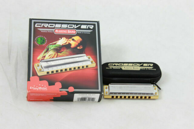 HOHNER M2009 CROSSOVER MARINE BAND HARMONICA KEY OF D MADE IN GERMANY NEW