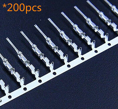 200pcs 2.54mm Dupont Jumper Wire Cable Housing Male Connector Terminal Crimps