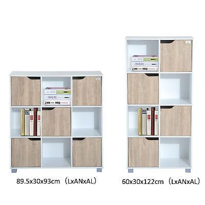 Librería tipo Estantería de 3 Niveles con 9/8 Cubos de Almacenaje Organizador