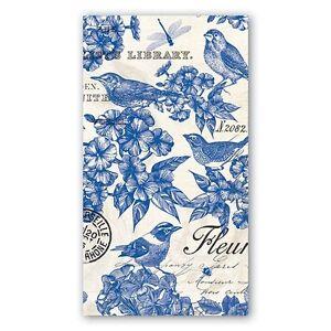 "Michel Design Works ""Indigo Cotton"" Hostess Soft Triple-Ply Paper Napkins - NEW"