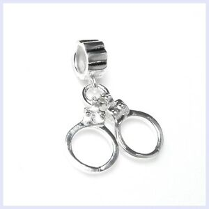 Details About 925 Sterling Silver Hero Police Officer Handcuff Bead F European Charm Bracelet