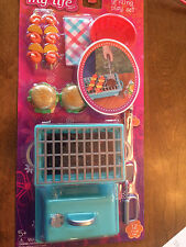 "NEW My Life 18"" Doll Clothes Fits American Girl Grilling Play Set Hamburgers"