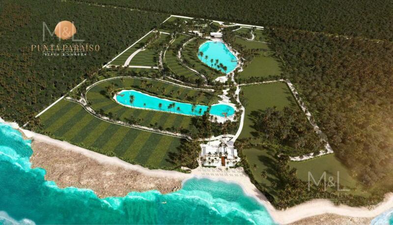 Terreno en Venta Punta Paraiso  Frente al Mar Condominal 14590 m2. Riviera Maya