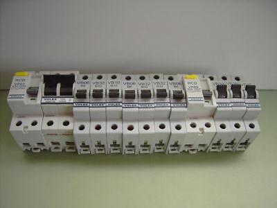 10A 16A 20A  32A 40A Miniature Circuit Breakers Volex VB B Type MCB/'s