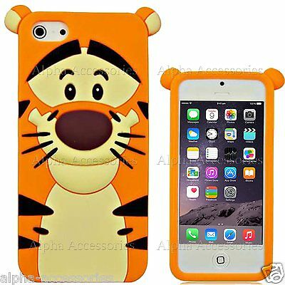 Cute 3D Cartoon Soft Silicone Rubber Case Cover Skin For Apple iPhone 6S,5S,4,S7