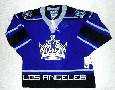 new product 57aef c7b80 Ziggy Palffy Signed Autographed Los Angeles Kings Purple Jersey CCM Size 52  NEW   eBay