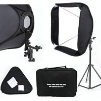 "FOTGA Portable 32"" 80 cm White Flash Speedlight Soft box For Photo Stand Bracket"
