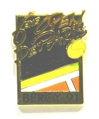 PINS TENNIS 7ème OPEN PARIS BERCY 1992 FORME TABLEAU A.BERTRAND